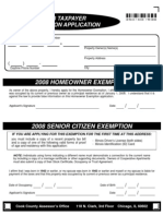 2008 Homeowner Tax Exemption