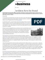 case study of harley davidson