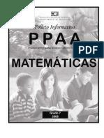PPAA Matematica 7