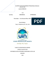 Pengaruh ROA dan ROE terhadap profitabilitas pada bank BRI (revisi), Iin Fitria. 109081000146