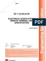 Electrical SCADA System Remote Terminal Unit Specification