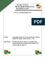 Acara Natal Sektor III Hkbp Immanuel