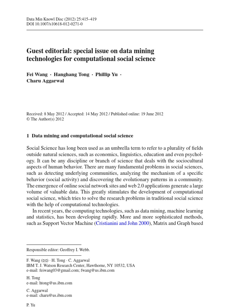 research papers on data mining