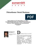 Experton Group Fokusthema Social Business:Entmystifizierung der Beschaffung von Office-Produktivitätslösungen