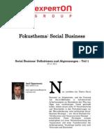 Experton Group Fokusthema Social Business;Social Business; Definitionen und Abgrenzungen – Teil 1
