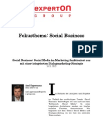 Experton Group Fokusthema Social Business;Social Business; Social Media im Marketing Funktioniert nur mit einer integrierten Dialogmarketing-Strategie