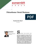 Experton Group Fokusthema Social Businesst; Facebook fürs büro,November 2012