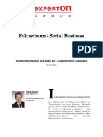 Experton Group Fokusthema Social Businesst;Social-Funktionen als Push für Collaboration-Lösungen