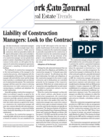 Liability of Construction Managers
