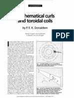 Mathematical curls and toroidal coils