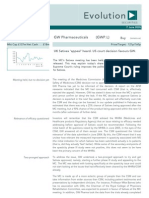 GW Pharmaceuticals (GWP) Broker Note