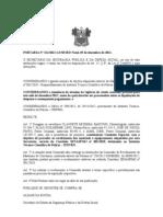 PORTARIA Nº 214 COMISSÃO PARA RECEBIMENTO DE  EQUIPAMENTOS CONVENIOS SENASP