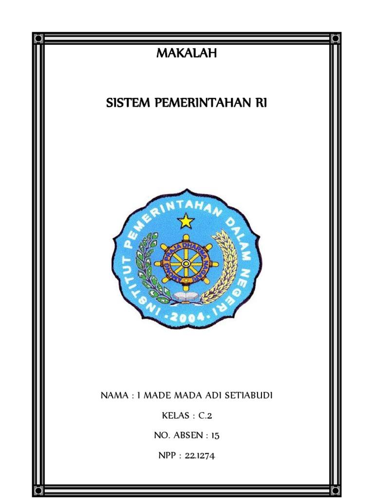94646161 Makalah Sistem Pemerintahan Indonesia Docx
