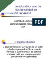 Orientaciones y Criterios Para El Espacio Educativo