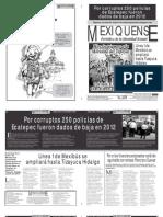 Versión impresa del periódico El mexiquense 12 de diciembre 2012