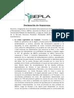 01 07 11 Declaracion_de_Guararema SEPLA
