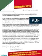 [Communiqué de Presse] à Toulouse comme partout en France la liste associative BOUGE TON CROUS confirme sa progression