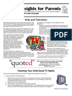Insights for Parents 3.4 - Kids & TV