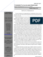 "Buletinul Comisiei ABRM ""Catalogare-Indexare"" Nr 1-2011"