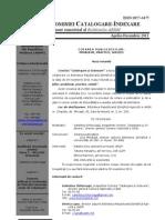 "Buletinul Comisiei ABRM ""Catalogare-Indexare"" Nr 2-2011"