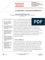 Absorption of Lutein vs. Lutein Esters