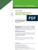 Garcia 2011. Interdisciplinariedad y Sistemas Complejos RELMECS.pdf
