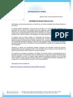 INFORME DE DEUDA PUBLICA 2012 Gacetilla 2