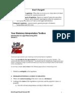 Your Statutory Interpretation Toolbox
