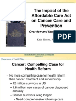 The Impact of the Affordable Care Act on Cancer Care