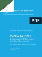 CeDEM Asia 2012 Proceedings