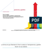 Standard & Poors Presentation -- Fiscal Transparency (Espanol)
