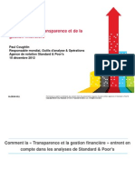Standard & Poors Presentation -- Fiscal Transparency (Francais)