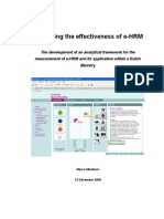 Measuring of Effectiveness of E-HRM