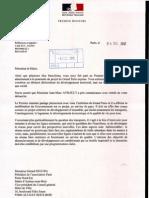 courrier M  AYRAULT -Réponse Chef de cabinet