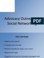 Advocacy Outreach and Social Networking - Chris Ward