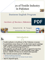 Challenges of Textile ind in Pakistan