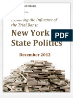 Trial Bar Campaign Finance Report 2012