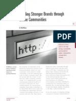 Building Stronger Brands Through Online Communities