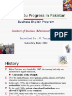 Litracy & Education progress in Pakistan.