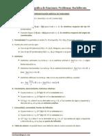 Problemas de representación gráfica de funciones