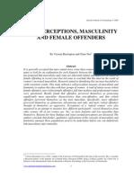 Herrington & Nee - Self-Perceptions, Masculinity and Female Offenders