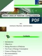 Energy Crisis of Pakistan