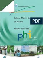Balance Hidrico Superficial Panama 1971-2002