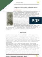 15 Presas filtrantes para control de la erosión en áreas de pastizal