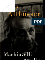 Louis Althusser, Machiavelli and Us