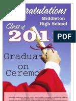 Middleton High School 2012 Graduation Supplement
