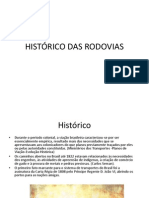 HISTÓRICO DAS RODOVIAS