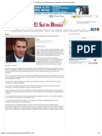 30-11-12 El Sol de México - Moreno Valle consideró fortalecer herramientas para el combate a la trata de personas
