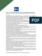 10.09 Folha online - Iterj vai entregar 700 títulos de propriedade em Búzios