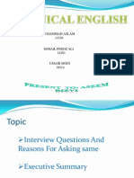 Interview Questions and Reasons for Asking Same Final